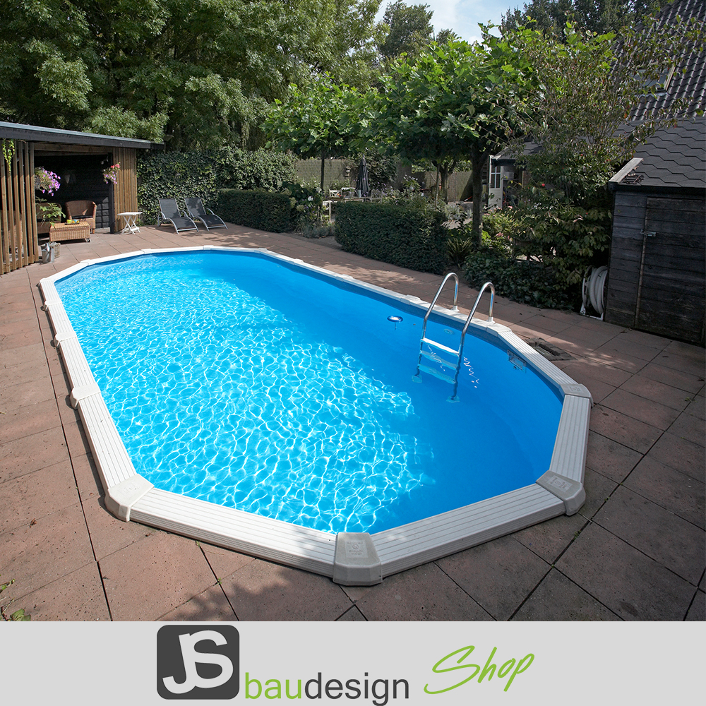 Metallwandpool diana oval 8 50 x 4 90m gartenpool for Gartenpool oval